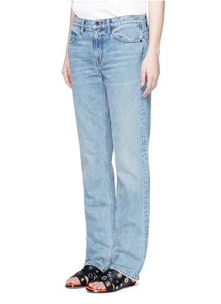 Front View - Click To Enlarge - Helmut Lang - Light worn boyfriend jeans