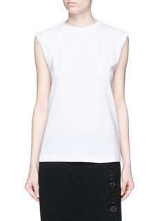 HELMUT LANGVintage cotton jersey strap T-shirt
