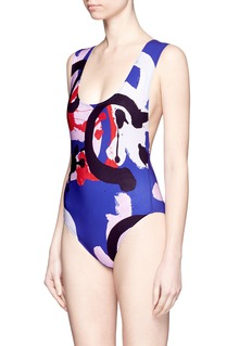ARAKSx Quentin Jones 'Jireh' splash print one-piece swimsuit