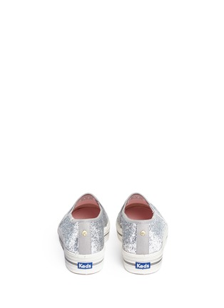 Back View - Click To Enlarge - Keds - x Kate Spade 'Triple Decker Glitter' flatform slip-ons