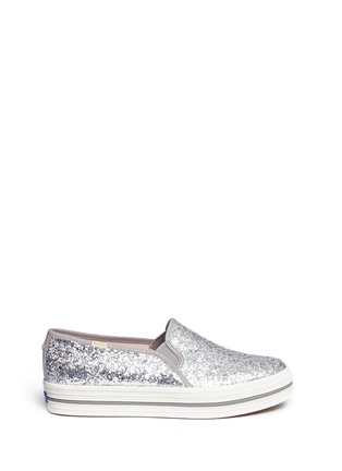 Main View - Click To Enlarge - Keds - x Kate Spade 'Triple Decker Glitter' flatform slip-ons