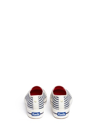 Back View - Click To Enlarge - Keds - x Kate Spade 'Triple Decker Bow' canvas flatform slip-ons