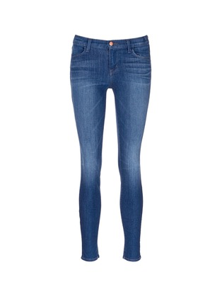 Main View - Click To Enlarge - J Brand - 'Super Skinny' whiskered jeans