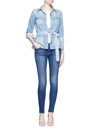 Figure View - Click To Enlarge - J Brand - 'Super Skinny' whiskered jeans