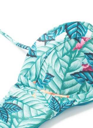 Detail View - Click To Enlarge - Mara Hoffman - Leaf print bustier bandeau top