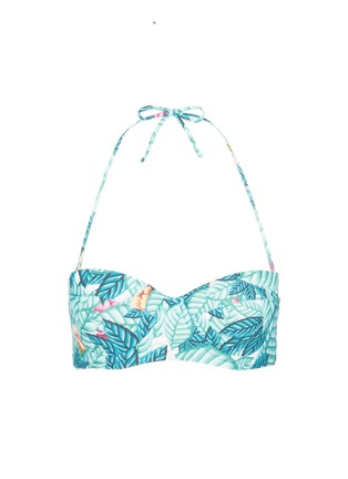 Main View - Click To Enlarge - Mara Hoffman - Leaf print bustier bandeau top