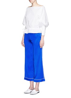 HELEN LEE Silk satin cropped pyjama pants