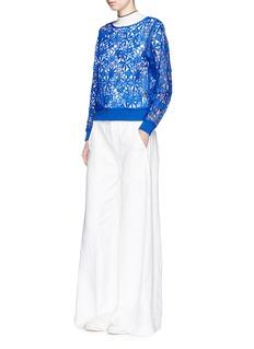 HELEN LEEFloral guipure lace sweatshirt