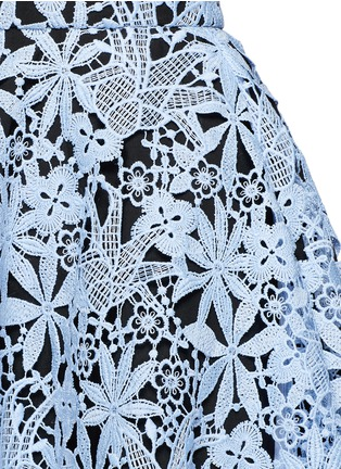 Detail View - Click To Enlarge - HELEN LEE - Floral guipure lace flare skirt