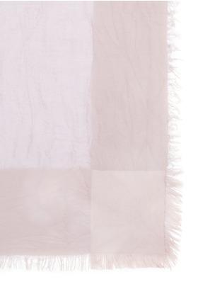 细节 - 点击放大 - FALIERO SARTI - 单色混莫代尔围巾