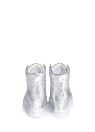 ASH-'Clone' metallic leather wedge sneakers