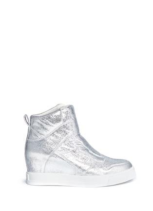 首图 - 点击放大 - ASH - 'Clone' metallic leather wedge sneakers