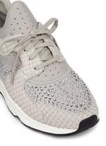 'Mood' crystal snakeskin effect neoprene sneakers