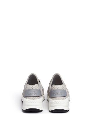 Back View - Click To Enlarge - Ash - 'Mood' crystal snakeskin effect neoprene sneakers