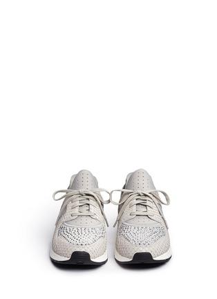 正面 -点击放大 - ASH - 'Mood' crystal snakeskin effect neoprene sneakers