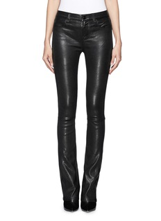 J BRAND 'Remy' lamb leather skinny wide leg pants