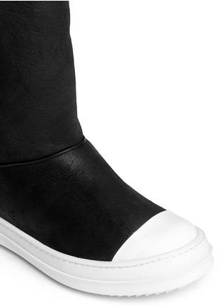 Detail View - Click To Enlarge - Rick Owens - Lamb shearling boots