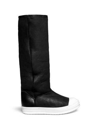 Main View - Click To Enlarge - Rick Owens - Lamb shearling boots