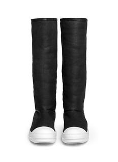 RICK OWENSLamb shearling boots
