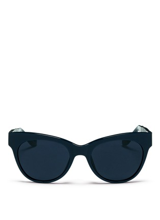Main View - Click To Enlarge - The Row - x Linda Farrow leather temple acetate sunglasses