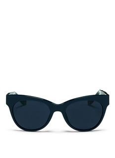 THE ROWx Linda Farrow leather temple acetate sunglasses