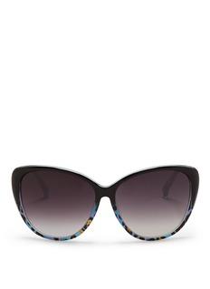 MATTHEW WILLIAMSONx Linda Farrow leopard oversized sunglasses