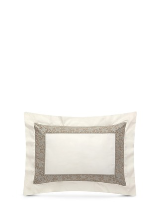Main View - Click To Enlarge - Frette - Gotico jacquard border standard sham