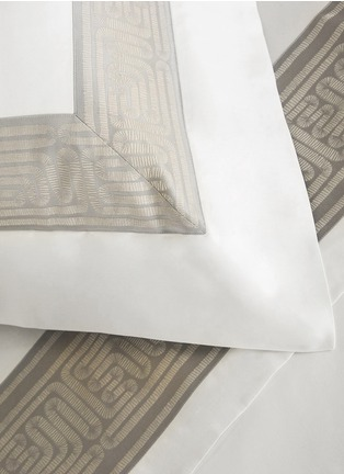Detail View - Click To Enlarge - Frette - Tram jacquard border Euro sham