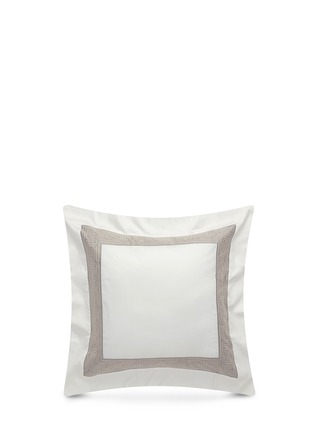 Main View - Click To Enlarge - Frette - Tram jacquard border Euro sham