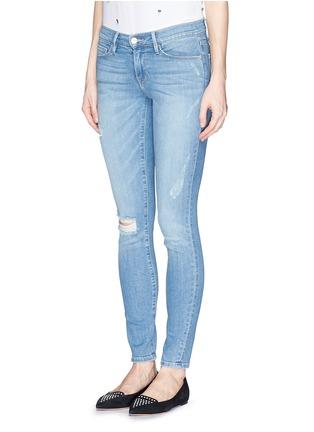 Front View - Click To Enlarge - Frame Denim - 'Le Skinny De Jeanne' distressed skinny jeans