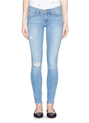 Main View - Click To Enlarge - Frame Denim - 'Le Skinny De Jeanne' distressed skinny jeans