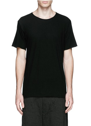 Main View - Click To Enlarge - Ziggy Chen - Raw cut cotton jersey T-shirt