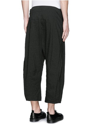 Back View - Click To Enlarge - Ziggy Chen - Pinstripe cotton-linen wide leg pants
