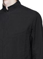 Mandarin collar cotton voile shirt