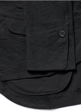 Detail View - Click To Enlarge - Ziggy Chen - Duo-layer back vent cotton-linen blazer