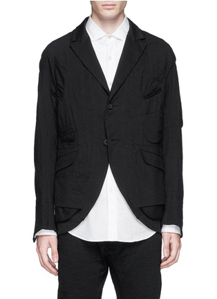 Main View - Click To Enlarge - Ziggy Chen - Duo-layer back vent cotton-linen blazer