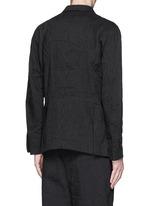 Pinstripe cotton-linen blazer