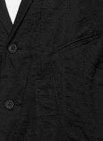 Peak lapel cotton voile coat