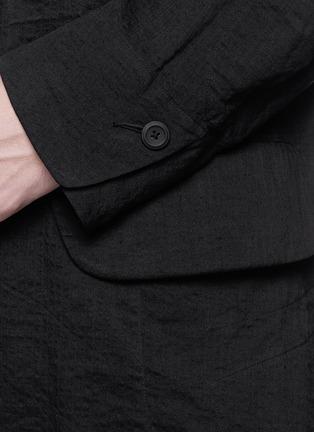 Detail View - Click To Enlarge - Ziggy Chen - Peak lapel cotton voile coat