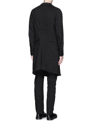 Back View - Click To Enlarge - Ziggy Chen - Peak lapel cotton voile coat