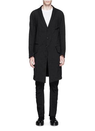 Main View - Click To Enlarge - Ziggy Chen - Peak lapel cotton voile coat