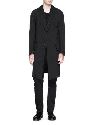 Figure View - Click To Enlarge - Ziggy Chen - Peak lapel cotton voile coat