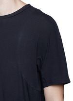Shirttail cotton T-shirt