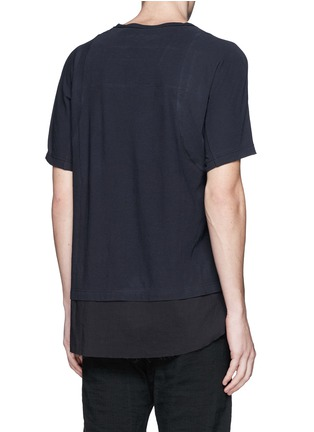 Back View - Click To Enlarge - Ziggy Chen - Shirttail cotton T-shirt