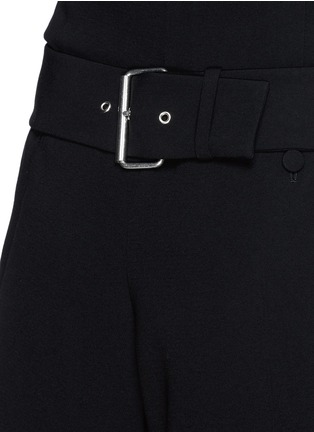 Detail View - Click To Enlarge - Alexander Wang  - Belted crepe shorts