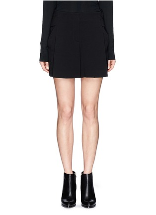 Main View - Click To Enlarge - Alexander Wang  - Belted crepe shorts