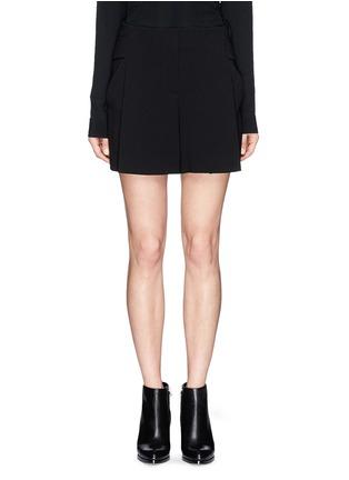 首图 - 点击放大 - ALEXANDER WANG  - 腰带装饰褶裥绉绸短裤