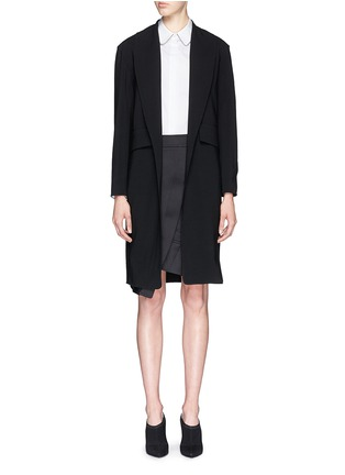 Main View - Click To Enlarge - Alexander Wang  - Shawl lapel long wool knit blazer