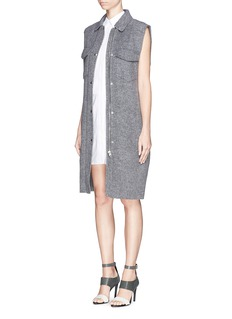 ALEXANDER WANG  Blouson back cuff hem shirt dress