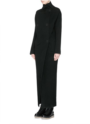 Front View - Click To Enlarge - Acne Studios - 'Alby' double breasted boiled wool coat